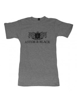 Astor & Black Black on Grey Crew