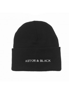Astor & Black Black Knit Hat