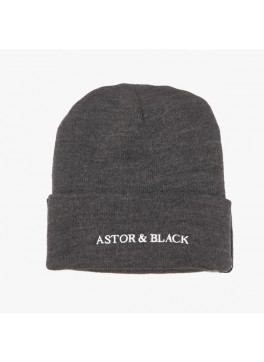 Astor & Black Charcoal Knit Hat