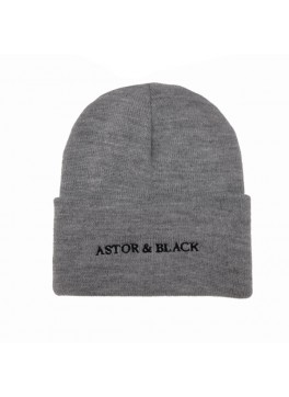 Astor & Black Grey Knit Hat