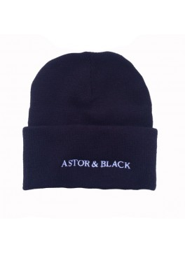 Astor & Black Navy Knit Hat