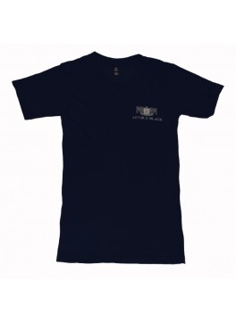 Astor & Black White on Blue V-Neck