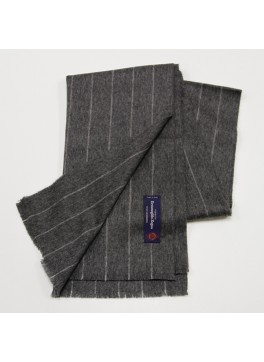 Grey Pinstripe, 100% Cashmere