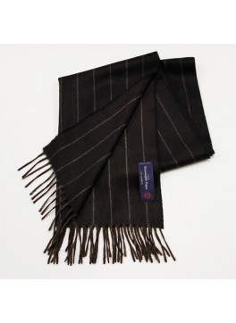 Brown Pinstripe, 100% Cashmere