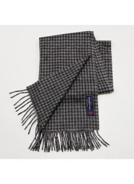 Grey/Black Check, 100% Cashmere