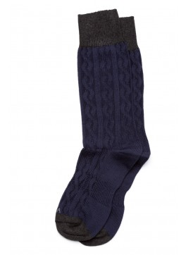 Cable Knit Dress Socks