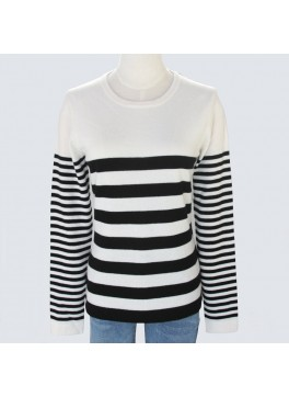 Ladies Striped Crew Neck