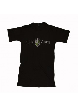 Bello Verde White on Black V-Neck