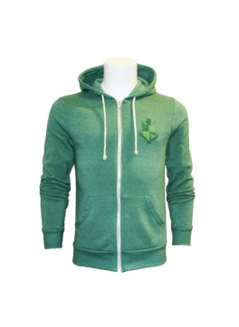 Bello Verde Green Zip-Up