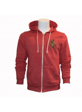 Bello Verde Red Zip-Up
