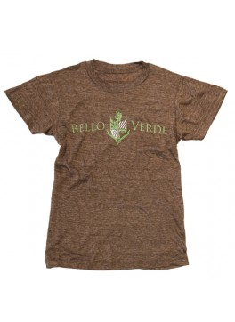 Bello Verde Green on Brown Crew