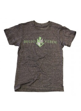 Bello Verde Green on Grey Crew