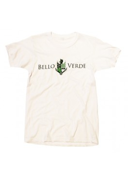 Bello Verde Green on White Crew