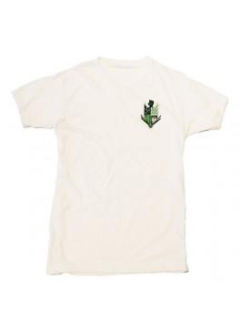 Bello Verde Green Shield on White Crew