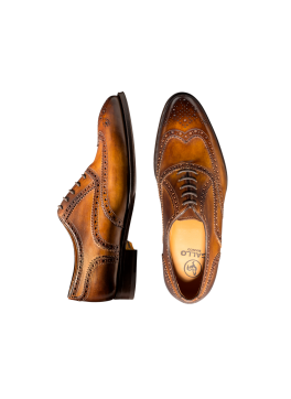 Zenzero Deco Wingtip Lace-up