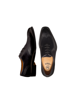 Black Wingtip Lace-up