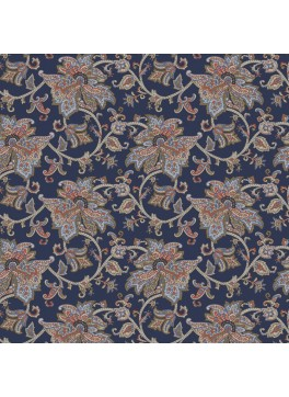 Navy Floral Paisley (GLD360181)