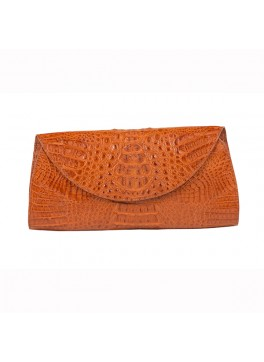 Capri Crocodile Envelope Clutch