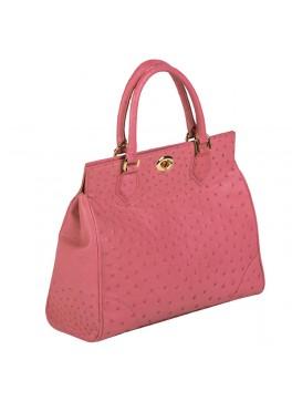 Mila Ostrich Handbag