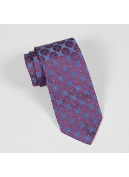 Blue & Red Jacquard Tie