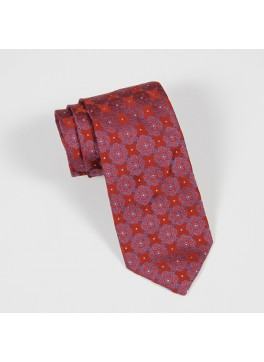 Red & Blue Jacquard Tie