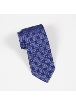 Purple & Light Blue Jacquard Tie