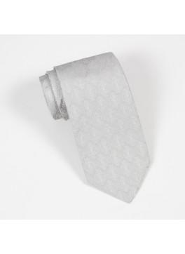 Silver Tone on Tone Jacquard Tie