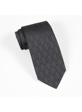 Black Tone on Tone Jacquard Tie
