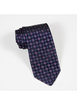 Black/Light Blue/Pink Neat Tie
