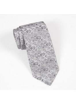 Silver w/ Small Silver Paisley Tie