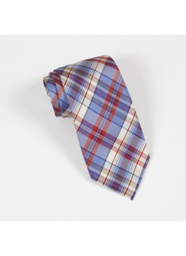 Blue/Red Plaid Tie