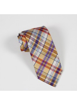 Yellow/Purple Plaid Tie
