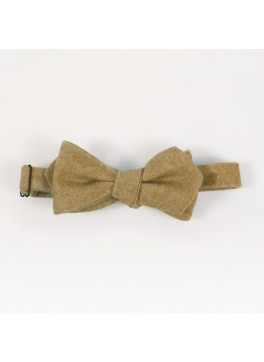 Camel Cashmere Diamond Point Bow Tie