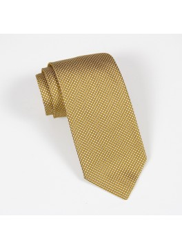 Yellow Textured Solid Tie