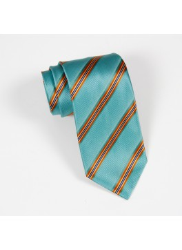 Teal/Gold Stripe Tie