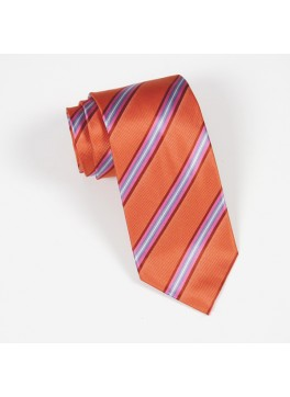 Orange/Pink Stripe Tie