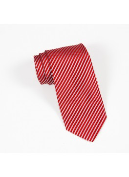 Red/Light Blue Stripe Tie