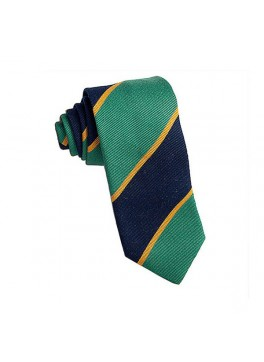 Green/Navy/Yellow Repp Stripe Tie