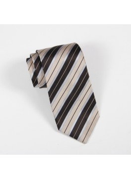 Brown/Tan Stripe Tie