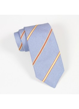 Light Blue with Burgundy/Yellow Stripe Tie