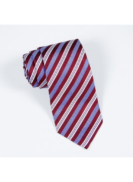 Red & Light Blue Stripe Tie