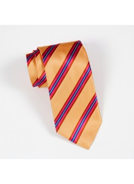 Yellow/Pink/Navy Stripe Tie