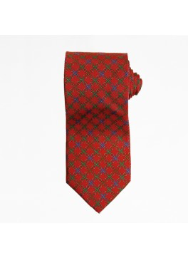 Red Plaid Chain Tie