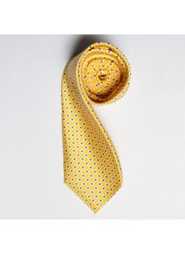 Yellow/Blue Diamond Tie