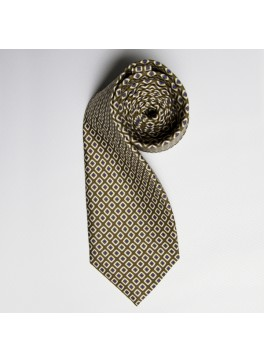 Olive/Blue Diamond Tie
