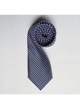 Navy Houndstooth Skinny Tie