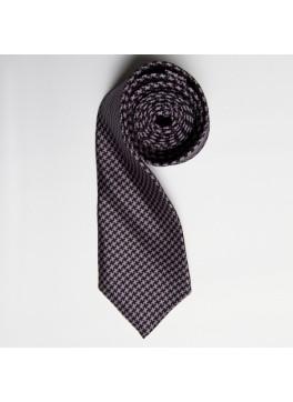Black Houndstooth Skinny Tie