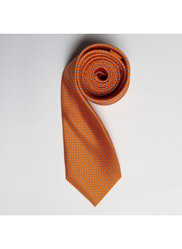 Orange/Blue Tiny Dot SkinnyTie
