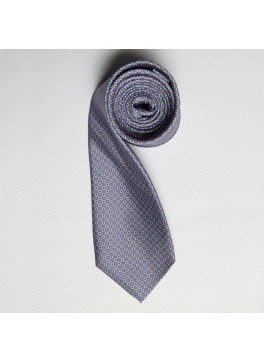 Grey/Blue Tiny Dot Skinny Tie