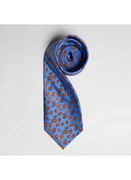 Light Blue Multi Paisley Tie